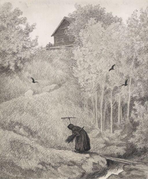 Illustrasjon til Svartedauen, Kristiania 1900