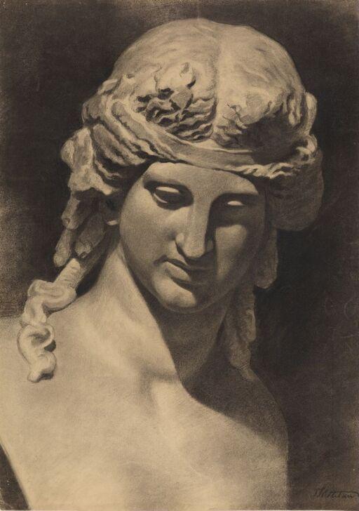 Klassisk figur, brystbilde med bånd i håret