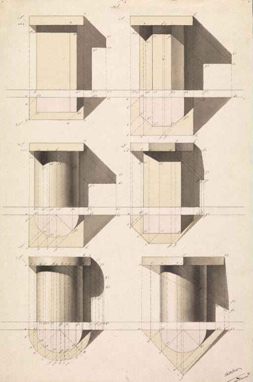 Seks geometriske konstruksjoner