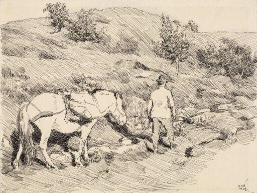 Tronberg med hesten