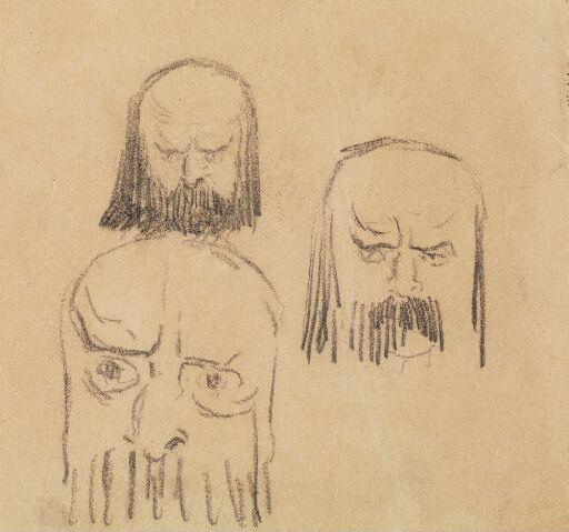 Three Heads, en face