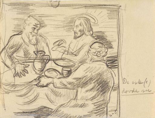 Kristus og to apostler