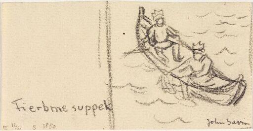 To samer fisker fra robåt
