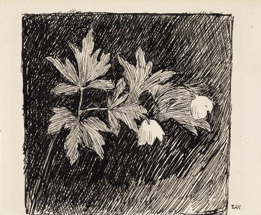 """Forarbeid til illustrasjon, Jonas Lie, """"Familien på Gilje"""", København 1903 [-1904]"""