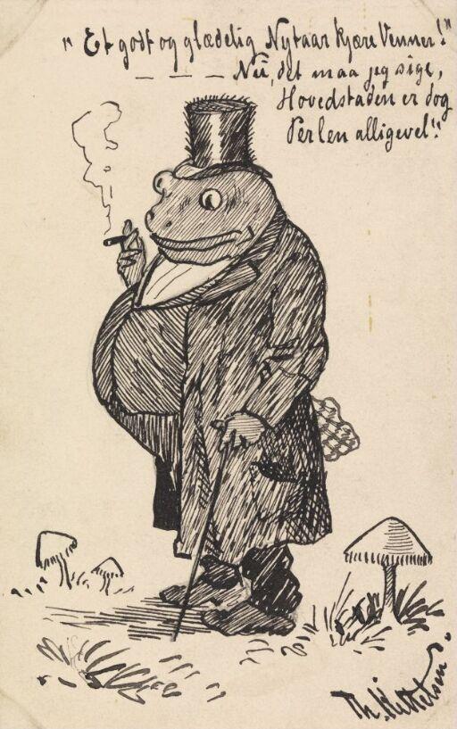 Karikatur, en liten mann