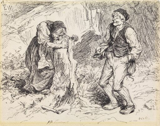 """Why don't you come over and give an Old Hag a Helping Hand?"" Illustration for ""Herding the King's Hares"""