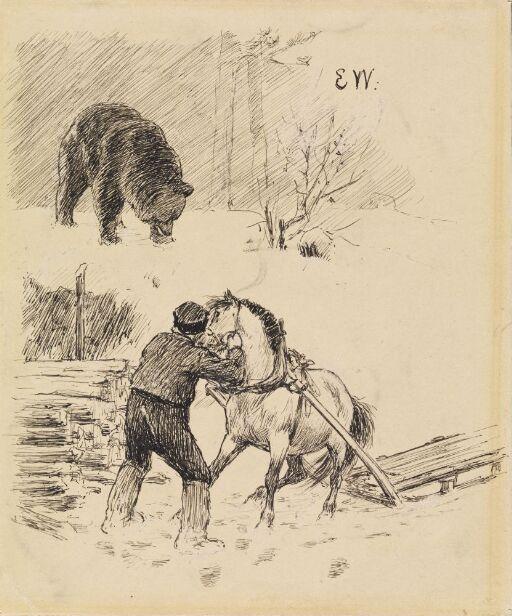 """Kom med hesten, ellers slår jeg ihjel alle sauene dine til sommeren"", sa bjørnen"