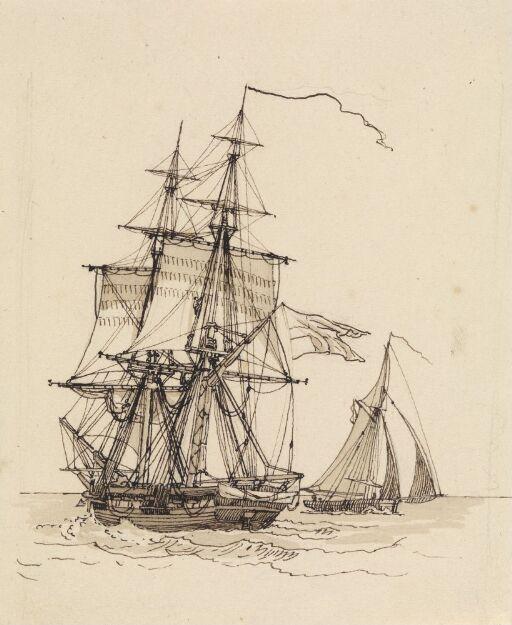Brig and pilot vessel