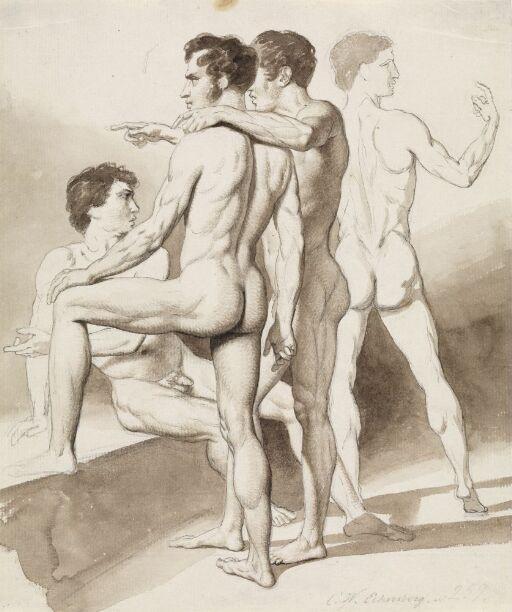 Four male nudes