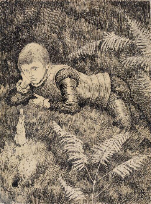 Da den kom nærmere, så Askeladden at det var en nydelig liten pike, men at hun var så ørende liten