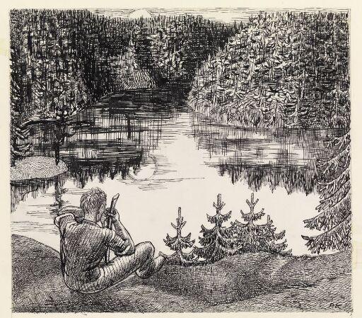 """Illustrasjon til """"Tatere"""", P. Chr. Asbjørnsen og J. Moe, Samlede eventyr, 1936"""