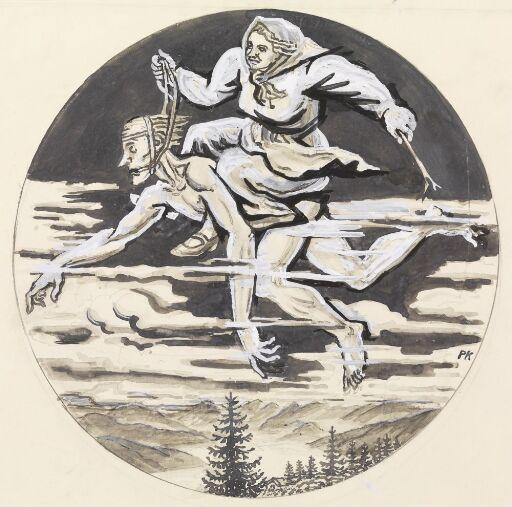 """""""Hun tok mannen sin opp av senga en påskekveld, og rei på ryggen hans like fra Gudbrandsdalen og til Bergens kjerke"""""""