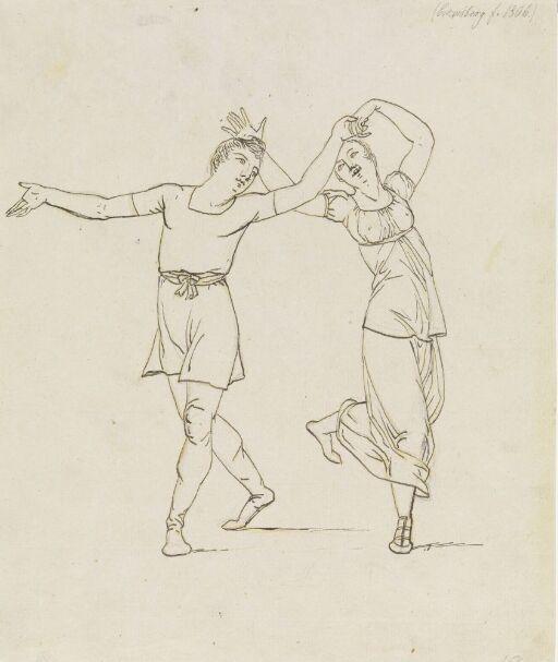 Dansende mann og kvinne