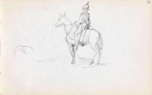 Uniformert mann til hest
