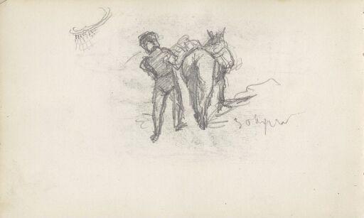 Mann og pålesset hest