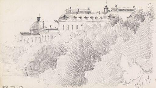 Studie av løvtre, Drottningholm