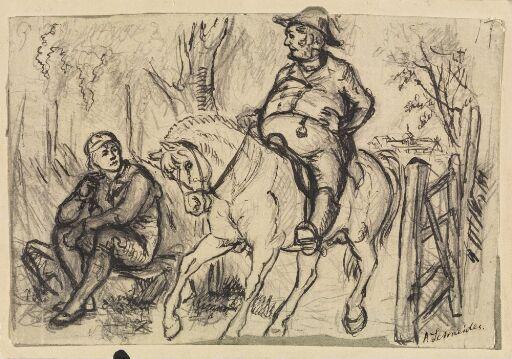 "Illustrasjon til ""Peik"" i P. Chr. Asbjørnsen, Norske Folke- og Huldre-Eventyr i Udvalg, København 1879"