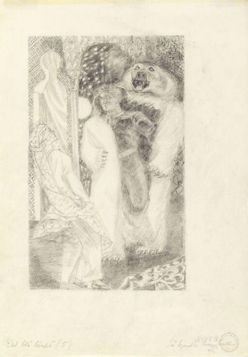 """Illustrasjon til """"Det blå båndet"""", P. Chr. Asbjörnsen og J. Moe, Samlede eventyr, 1936"""