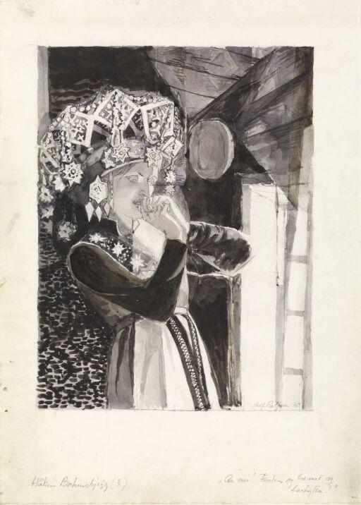 """Illustrasjon til """"Håken Borkenskjegg"""", P. Chr. Asbjörnsen og J. Moe, Samlede eventyr, 1936"""