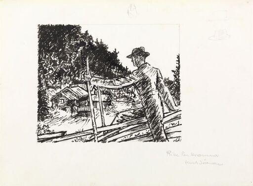 """Illustrasjon til """"Rike Per Kremmer"""", P. Chr. Asbjörnsen og J. Moe, Samlede eventyr, 1936"""
