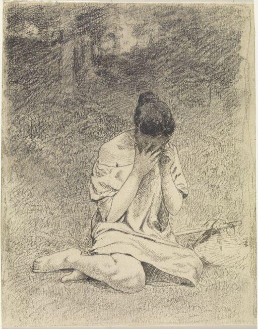 Hun lå på en liten grønn flekk midt inne i mørke, tette skogen