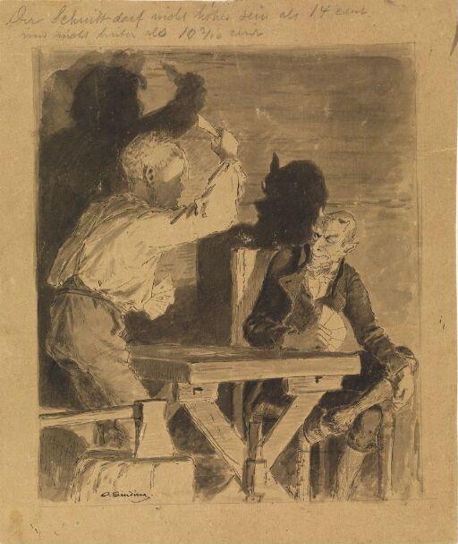 """Illustrasjon til """"Mumle Gaaseæg"""", i P. Chr. Asbjörnsen, Norske Folke- og Huldre-eventyr i Udvalg, Kjøbenhavn 1879"""