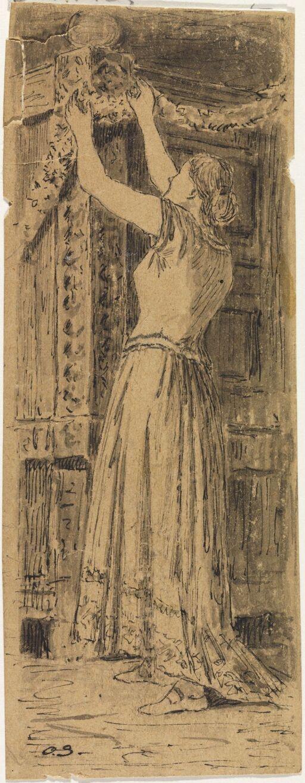 """Variant av illustrasjon til """"Om Risen som ikke havde noget Hjerte paa sig"""", P. Chr. Asbjörnsen, Norske Folke- og Huldre-eventyr i Udvalg, Kjøbenhavn 1879"""