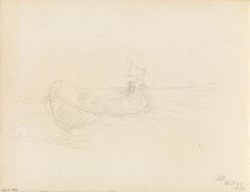 Studie av mennesker i båt