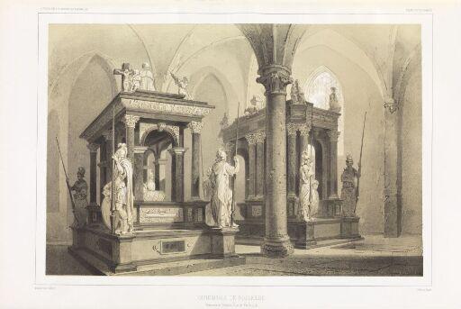 Gravene til Kristian III og Fredrik III i domkirken i Roskilde