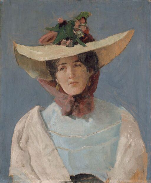 Portrett av skuespillerinnen Agnes Mowinckel