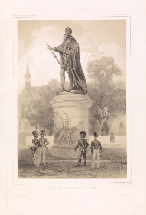 Statue av Gustav Vasa i Stockholm