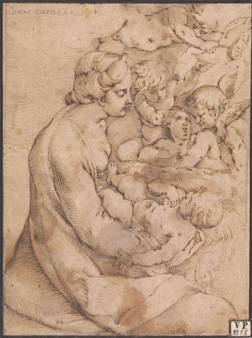 Maria med Jesusbarnet og engler