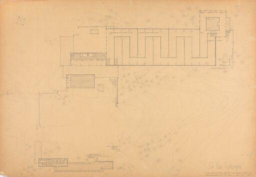 Á la Greque. Museumsbygning for de Sandvigske samlinger. Plan.