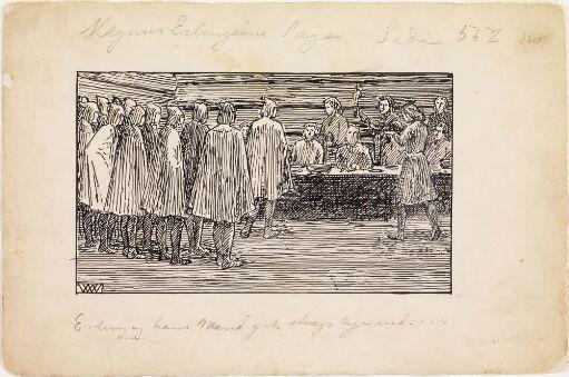 Erling og hans menn gikk straks inn for høgsetet
