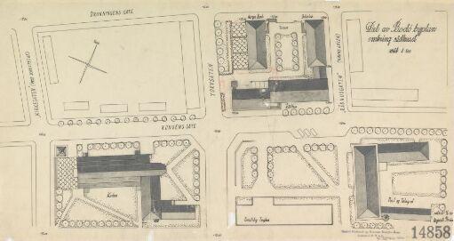 Del av Bodø byplan med kirke og rådhus