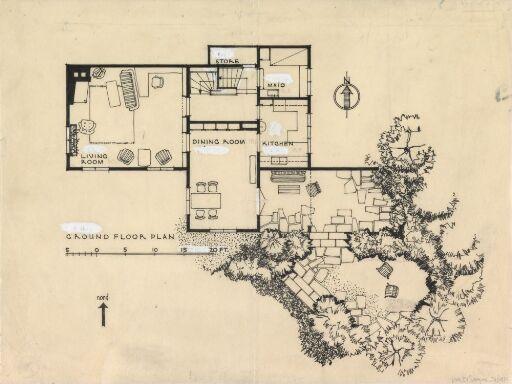 Hus for Bjelke, plan av 1. etasje