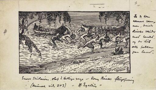 Røreks menn løp i land alle sammen, men Rørek satte seg opp i løftingen