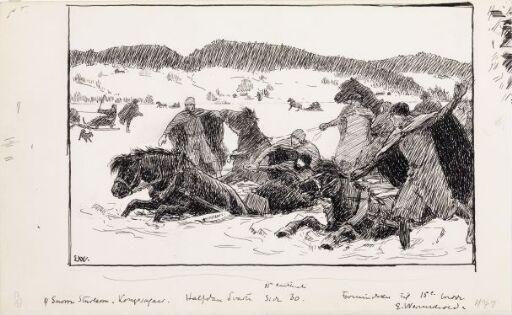 Halvdan Svarte drukner i Røykenvik