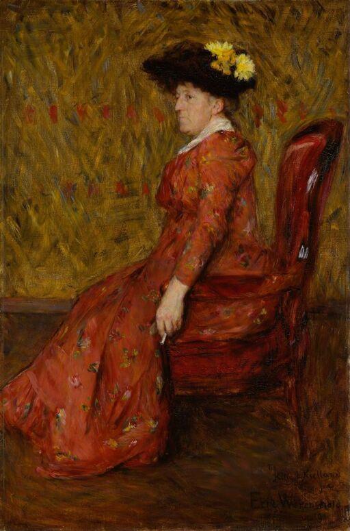 Portrait of the Painter Kitty L. Kielland