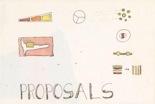 PROPOSALS (Artist's Book)