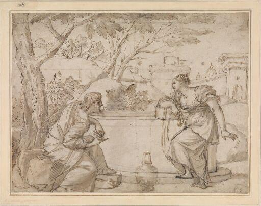 Christ and the woman of Samaria