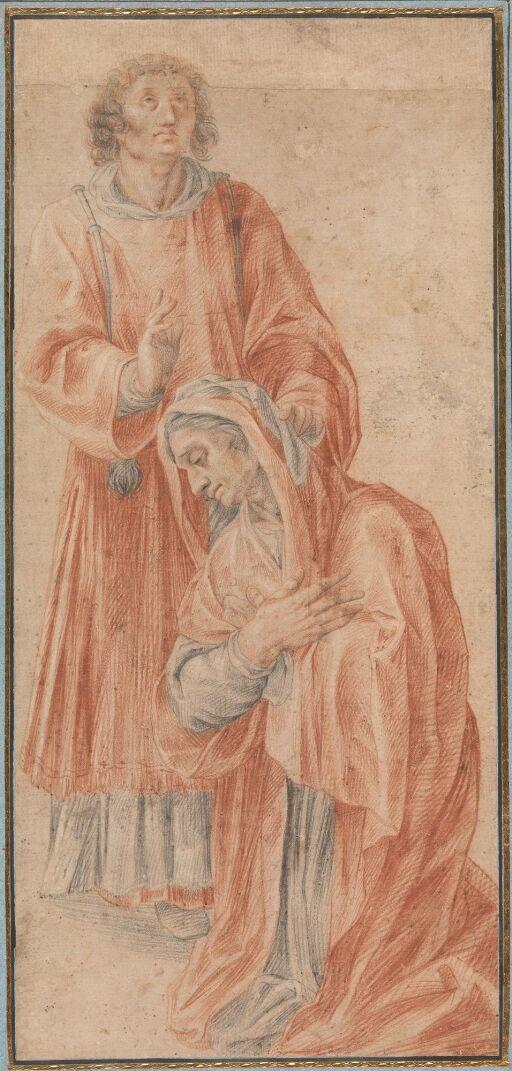 Den hellige Laurentius helbreder enken Cririaca