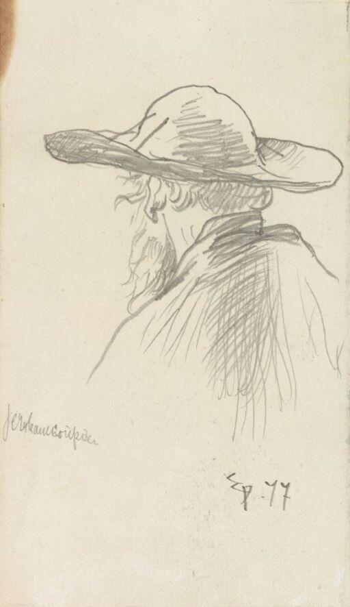Mann med bredbremmet hatt