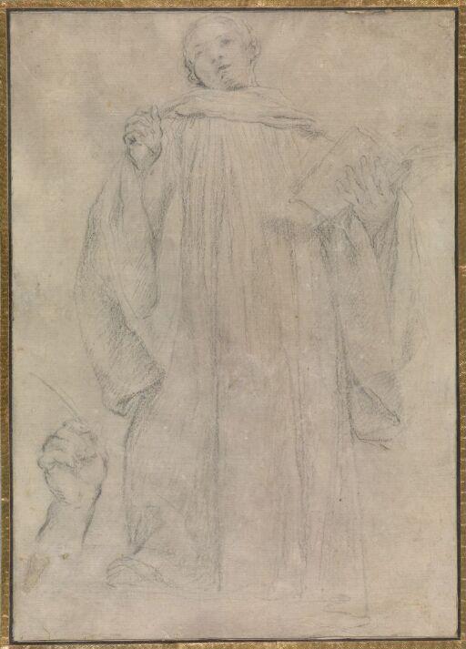 Stående munk; studie av hånd
