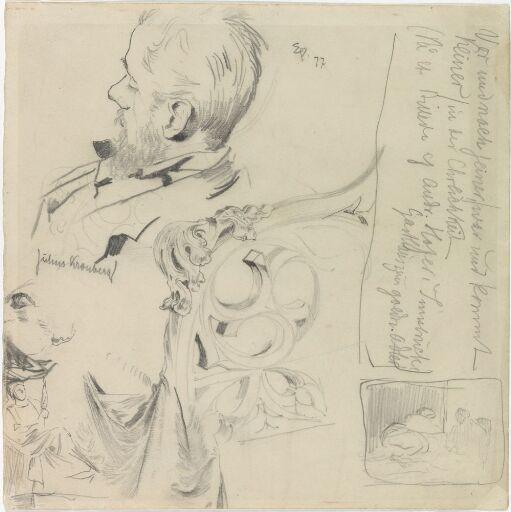 Julius Kronberg; ornamentstudier