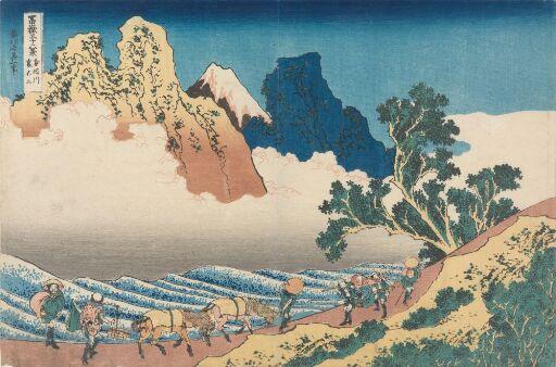 Baksiden av Fuji sett fra Minobu-elven