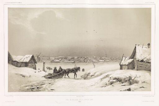 Utsikt over Mojaïsk, den 31. januar 1840 (Russland)