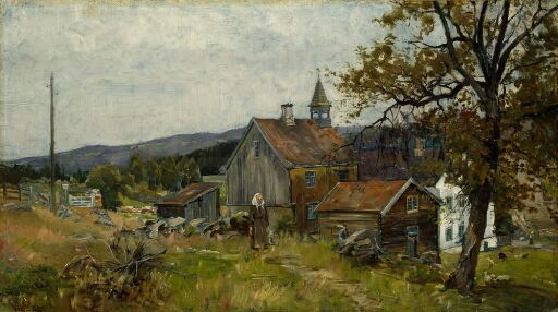 En storgård, Vik i Stange