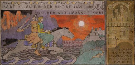 Åsmund and the Princess riding Home