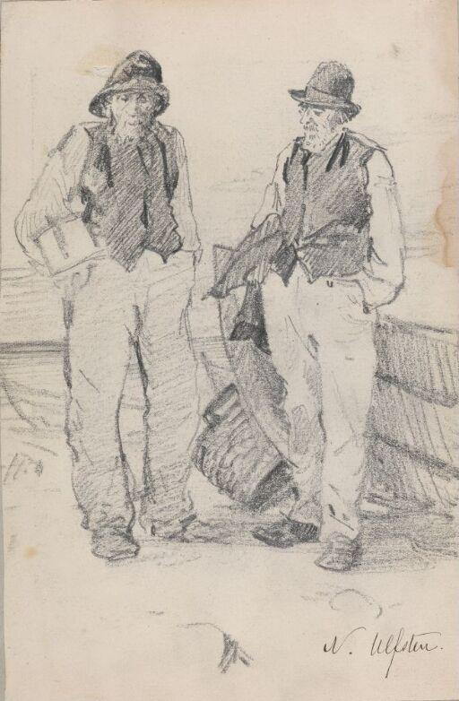 To eldre menn ved båt